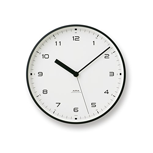 Lemnos Men's Urban Aluminum Wall Clock, Black, One Size
