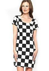 XnY Women's Dress (DR 1020007_10_Black_White)