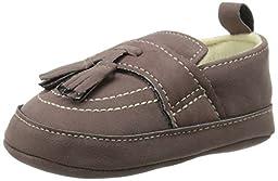 Little Me Suede Tassel Loafer Loafer (Infant), Brown, 0-6 Months M US Infant