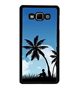 Fuson Premium 2D Back Case Cover Boy under tree With Multi Background Degined For Samsung Galaxy A7::Samsung Galaxy A7 A700F