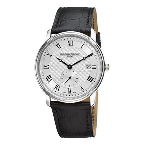 [フレデリックコンスタント]Frederique Constant 腕時計 Slim Line Silver Dial Roman Numerals Watch FC-245M5S6 メンズ [並行輸入品]