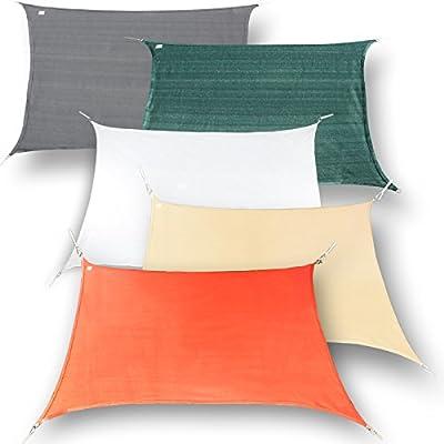 hanSe® Marken Sonnensegel Sonnenschutz Segel Rechteck 4x6 m von hanSe auf Gartenmöbel von Du und Dein Garten