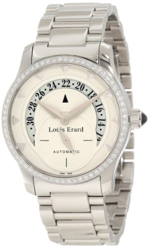 Louis Erard Women's 92600SE06.BMA16 Emotion Automatic Diamond Stainless-steel Date Watch