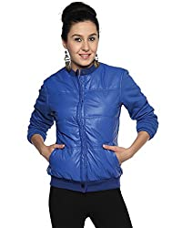 Campus Sutra Cotton Women's Bomber Jackets (AW15_JK_W_P8_RB_L_Blue_Large)