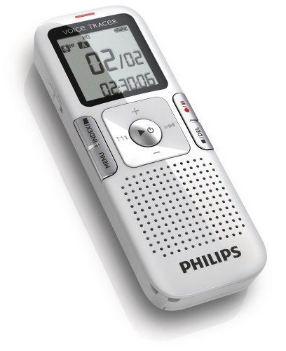 Philips 2GB Rechargeable Digital Recorder with clearvoice