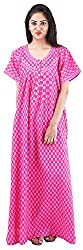Milan Collection Women's Printed Dressing Gowns & Kimonos (MC-126_40, Pink, Size - 40)