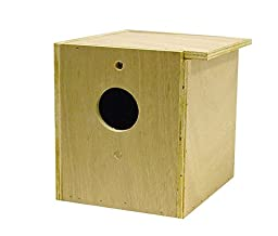 North American Pet Bird Brainers Parakeet Nesting Box Inside Outside Mounting