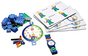 """LEGO Boys' 9005008 """"Time Teacher"""" Blue Set with Minifigure-Link Watch, Constructible Clock, and Activity Cards"""