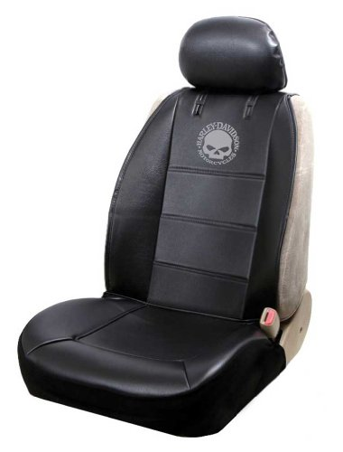 Harley-Davidson Seat Cover Sideless Black with Willie G Skull Logo - Single (Skull Seat Covers A compare prices)