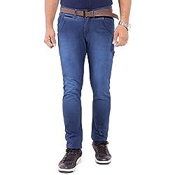 URBAN FAITH Blue Slim Fit Jeans for men's