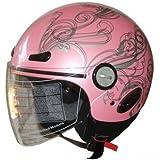 Adult Open Face Motorcycle Helmet DOT pink (318) 365