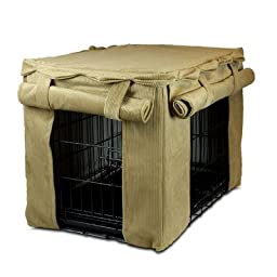 Cabana Pet Crate Cover Color: Antique Gold, Size: Small (19\