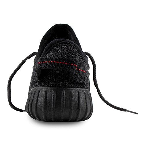 DianSen® Unisex Herbst & Frühling beiläufige Art und Weise Turnschuhe Laufbreath athletischer Sport-Schuhe (EU42, black)