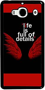 PrintVisa Quotes Angel Case Cover for Xiaomi Redmi Note / Note 4G