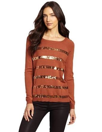 (超跌)美国大牌Design History 女士混木代尔 大圆领针织衫 Terra Cotta色 $27.11