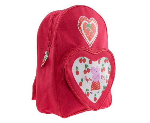 Peppa Pig Girls Red Cherry Backpack