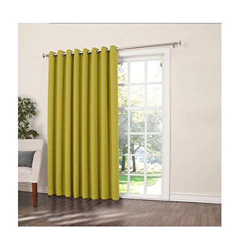 sun zero millennial becca extra wide energy efficient patio curtain panel 100 by 84 inch solid. Black Bedroom Furniture Sets. Home Design Ideas