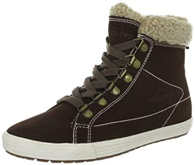 s.Oliver Casual 5-5-25227-29, Damen Fashion Sneakers, Braun (CAFE 361), EU 40