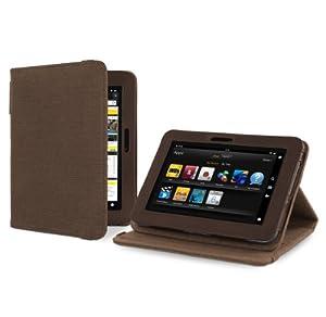 """Cover-Up """"Version Stand"""" Kakao braune natürliche Hülle aus Hanf mit Mehrfachansicht für Amazon Kindle Fire HD (7-zoll) Tablet"""