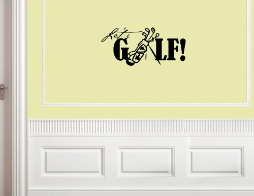 LET'S GOLF Vinyl wall lettering stickers quotes and sayings home art decor decal