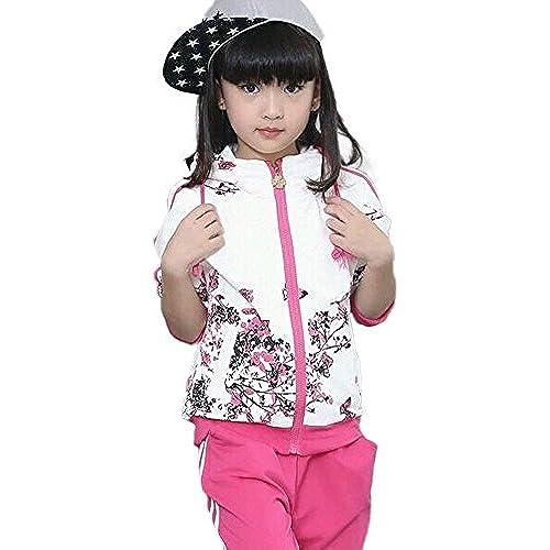 (joyfull 마트)Joyful Mart 저지 키즈 쥬니어 용 스포츠 웨어 긴 소매 상하 세트 소녀 어린이용-