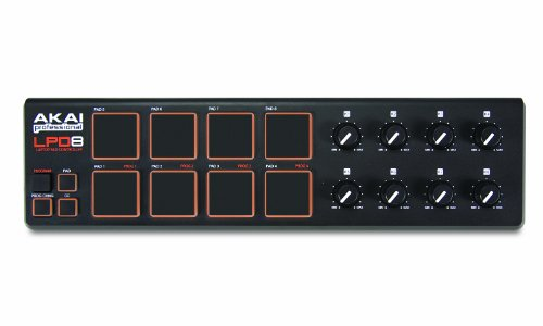 Akai Professional LPD8 Pad Controller USB MIDI Portatile con 8 Pad Retroilluminati