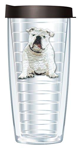 Bulldog Emblem Traveler 16 Oz Tumbler Mug with Lid (Bulldog Mug compare prices)