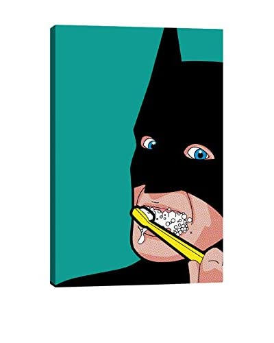 Bat-Brush Gallery-Wrapped Canvas Print