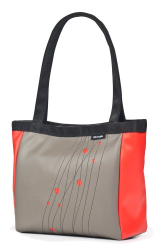 Holly Aiken Paspartou Coupe Small Tote, Gunmetal/Tomato
