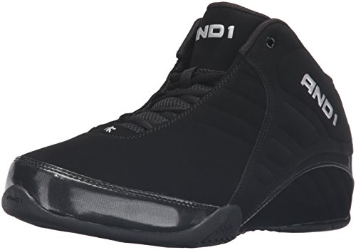 AND 1 Men's Rocket 3.0 Mid Basketball Shoe, Black/Black,10.5 M US/9.5 M UK