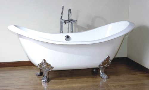 Tipperary Tub Cast Iron Roll Top Double Slipper Bath