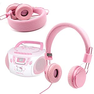 casque enfant rose duragadget pour lecteur cd radio. Black Bedroom Furniture Sets. Home Design Ideas