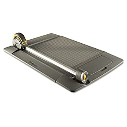 Westcott TrimAir Titanium 45MM Rotary Paper Trimmer, Metal Base, 15\