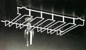 Metaltex porte verre 18 verres pieds rangement pour bar porte verre bar - Support verre a pied pour bar ...
