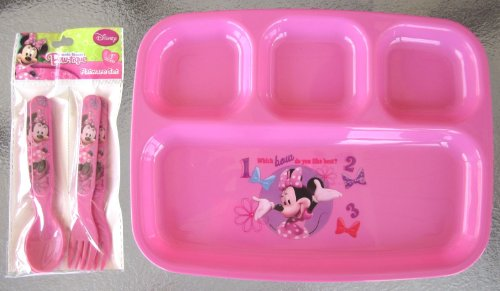 Disney Minnie Mouse Bow-tique Dinner Set - 1