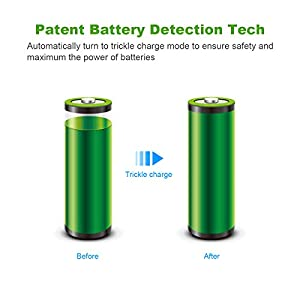 EBL AA AAA Battery Charger and AAA Rechargeable Batteries Ni-MH 1100mAh 16 Counts with Battery Cases