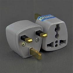 Buyyart New Highest Quality 1PCs Travel Charger Adapter Plug European Euro EU US USA to UK 3 Pin Power Plug Convert