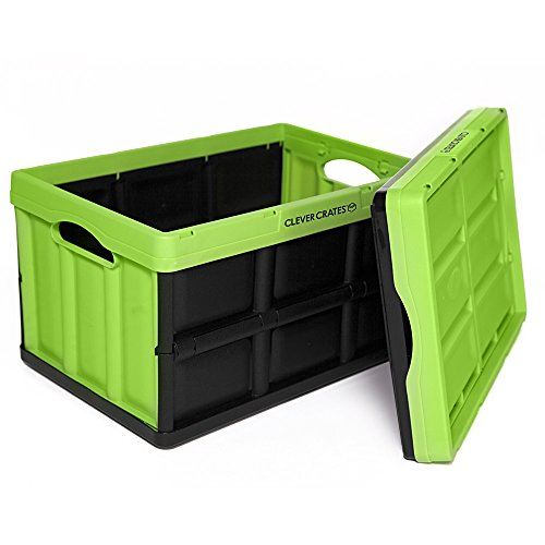 Clever Crates Folding Box 46 Liter - Kiwi Green front-238635