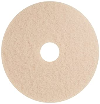 "Glit 13919 TK Polyester Blend UHS Tan Burnishing Floor Pad, Synthetic Blend Resin, Talc Grit, 19"" Diameter, 1000 to 3000 rpm (Case of 5)"