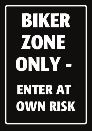 NOVELTY PARKING SIGN - BIKER ZONE ONLY