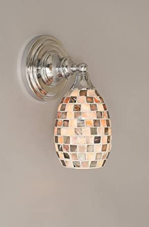 "11"" One Light Wall Sconce with Seashell Glass in Chrome"