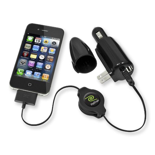 Black Retail Packaging ReTrak 2.4 Amp Car//Wall Combo Charger Plus Micro USB Cable for Samsung Galaxy S4