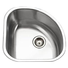 Houzer CST-1212-1 Club 14-by-14-Inch Stainless Steel Corner Bar Sink