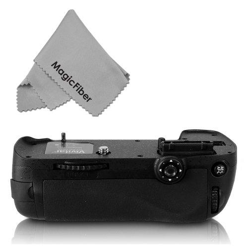 Vivitar Mb-D14 Battery Grip For Nikon D610 D600 Dslr Cameras (Nikon Mb-D14 Replacement) + Magicfiber Microfiber Lens Cleaning Cloth
