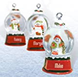Ganz Snowglobes Stephanie * Glass Personalized Christmas Ornament