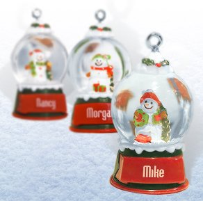 Ganz Snowglobes Darlene * Glass Personalized Christmas Ornament