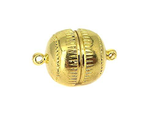 """Magnetverschluss """"Kugel"""" in gold 16x23.5 mm - 1 Stück"""