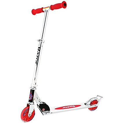 Razor A W125 Folding Aluminum Kick Kids Scooter w Wheelie Bar   Red 13014160 available at Amazon for Rs.5669