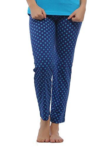 Clovia-Cotton-Full-Length-Pyjama-Blue