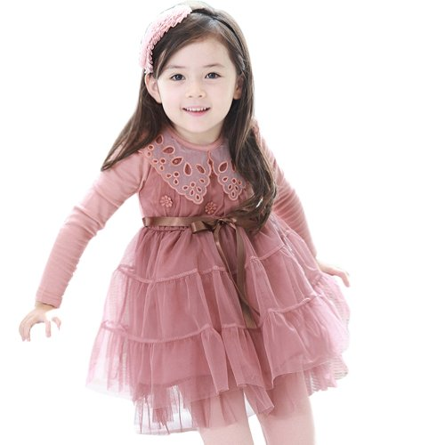 Little Hand Little Girls' Clothes Princess Dress Flower Lace Bow Tutu Skirt front-1080656